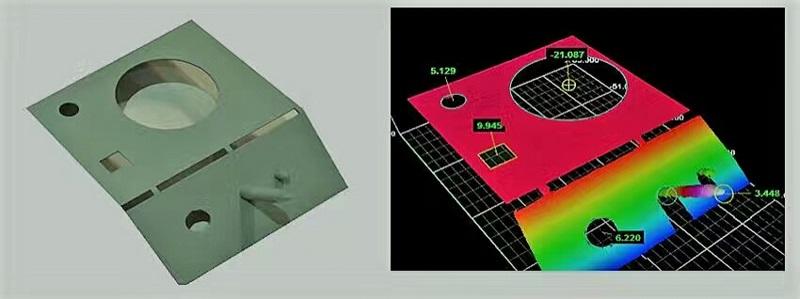 3D视觉测量金属片-机器视觉_视觉检测设备_3D视觉_缺陷检测