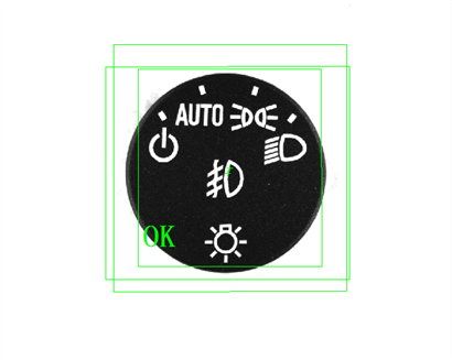 汽车灯光控制按钮丝印缺陷检测(丝印产品外观缺陷检测)-机器视觉_视觉检测设备_3D视觉_缺陷检测